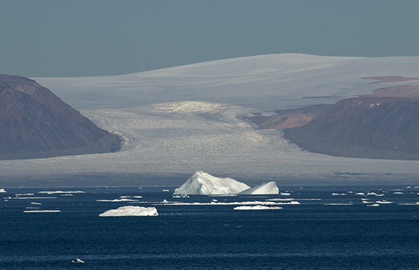 Arctic ice cap and glacier