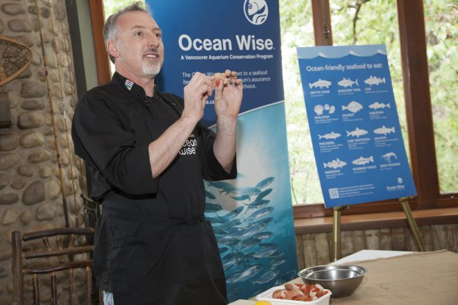 You can't mistake the love that Chef Paul Rogalski of Rouge has for Ocean Wise B.C. spot prawns.