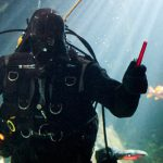 Darth Vader Takes the Plunge During Sea Star Wars