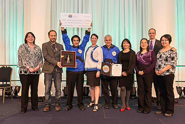 The Ikaarvik: Barriers to Bridges team was a winner of the second annual Arctic Inspiration Prize, awarded Nov. 11, 2013 at the 9th annual ArcticNet Scientific Meeting in Halifax.