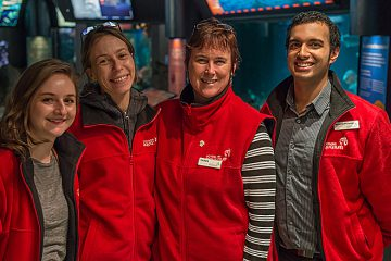 The duty manager team at the Vancouver Aquarium.