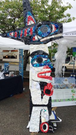 How one small idea turned into a large scale totem pole to raise awareness about ocean pollution.
