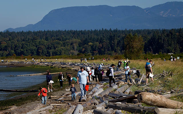 Volunteer for a shoreline cleanup near you!