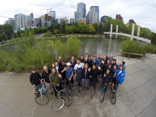 Chef Ned Bells cycles across Canada.