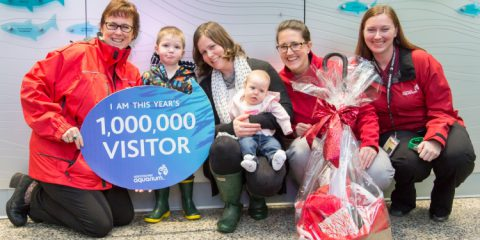 The Vancouver Aquarium welcomes the one millionth visitor for 2014