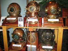 Diving helmets, Vancouver Aquarium