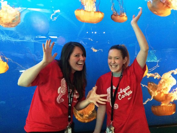 Alicia and Tracey are excited to be a part of the Aquarium bringing aquatic learning to kids over March Break and summer camps.