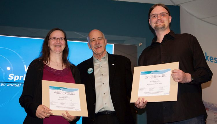 Volunteer awards at the Vancouver Aquarium