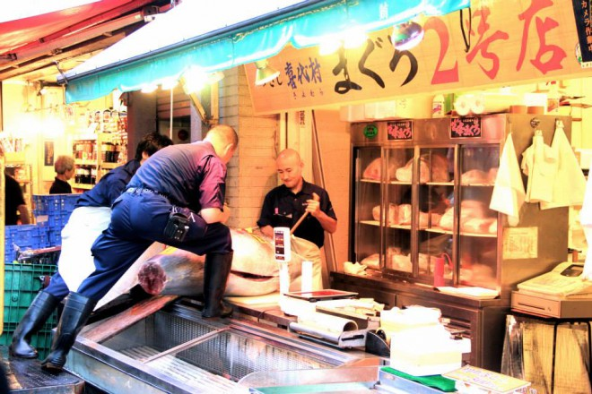 Fishmongers in Japan
