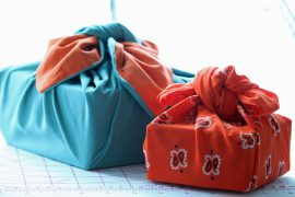 Use gift wrapping you know can be reused or recycled, try using cloth this year and practice the Japanese art of Furoshiki.