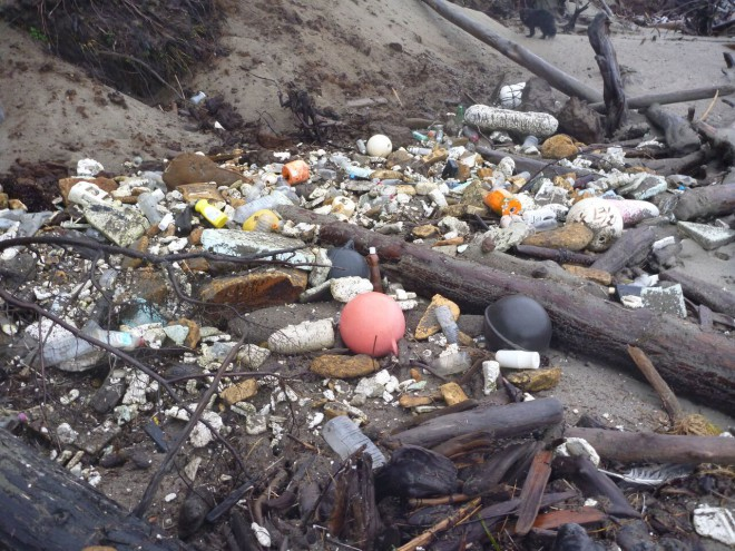 It's not just tsunami debris that washes up on Haida Gwaii. The tides bring litter from all over the world.