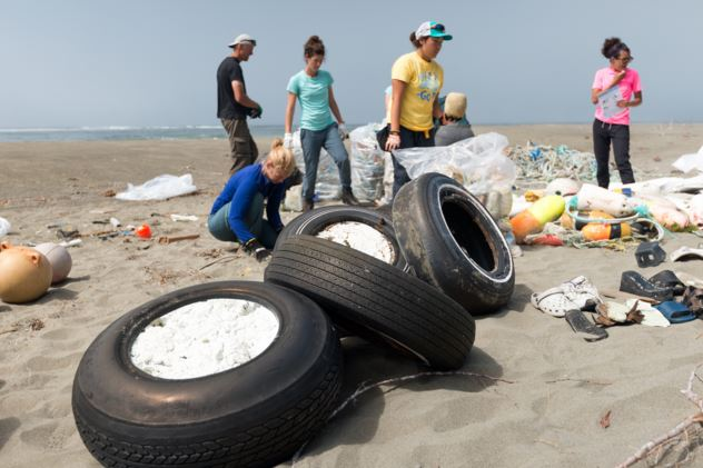 Debris from around the world washes up on our shorelines.