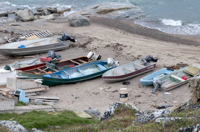 Aluminum boats in Pond Inlet in 2014. Photo credit: Eric Solomon