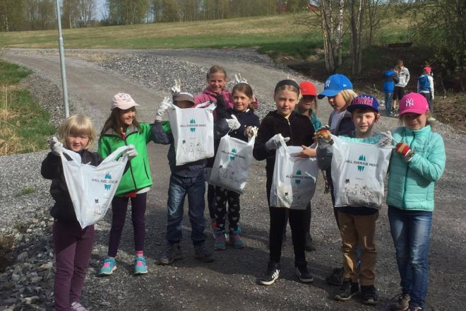 Students were inspired to start cleaning up nearby playgrounds on their own.