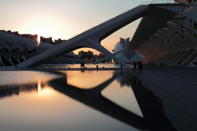 The incredible modern architecture of Valencia.