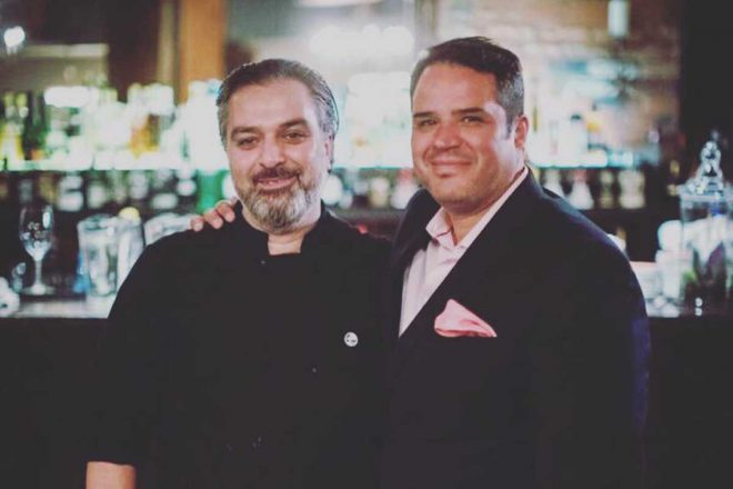 Chef Lino Oliveira and owner Chris Mena.