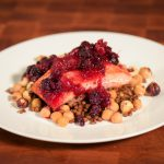 Chef Wise: Seasonal Salmon With Warm Chickpea Salad