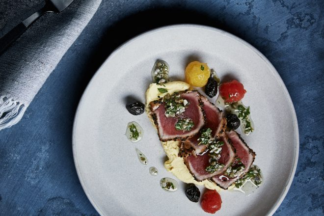Take a little shopping break and enjoy an Ocean Wise Niçoise tuna dish at select Holts Cafés. Photo Credit: Holt Renfrew