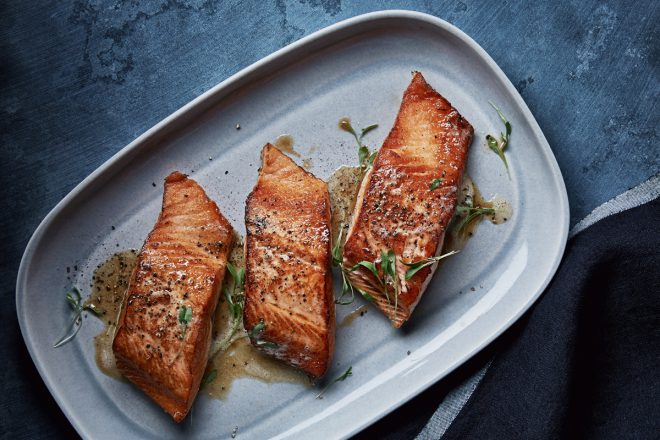 Seared wild salmon served at Holts Cafe. Photo credit: Holt Renfrew.