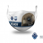 Rescued sea otter and global YouTube star 'Joey' featured on new Whitecaps FC facemask in support of Vancouver Aquarium